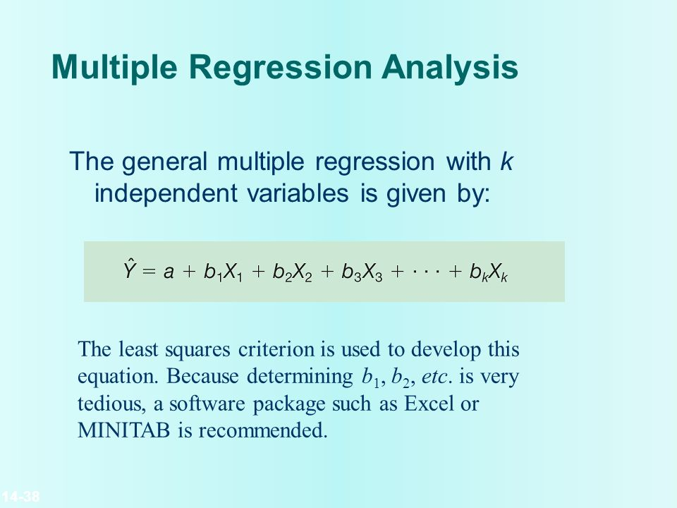 how to find multiple regression equation in excel