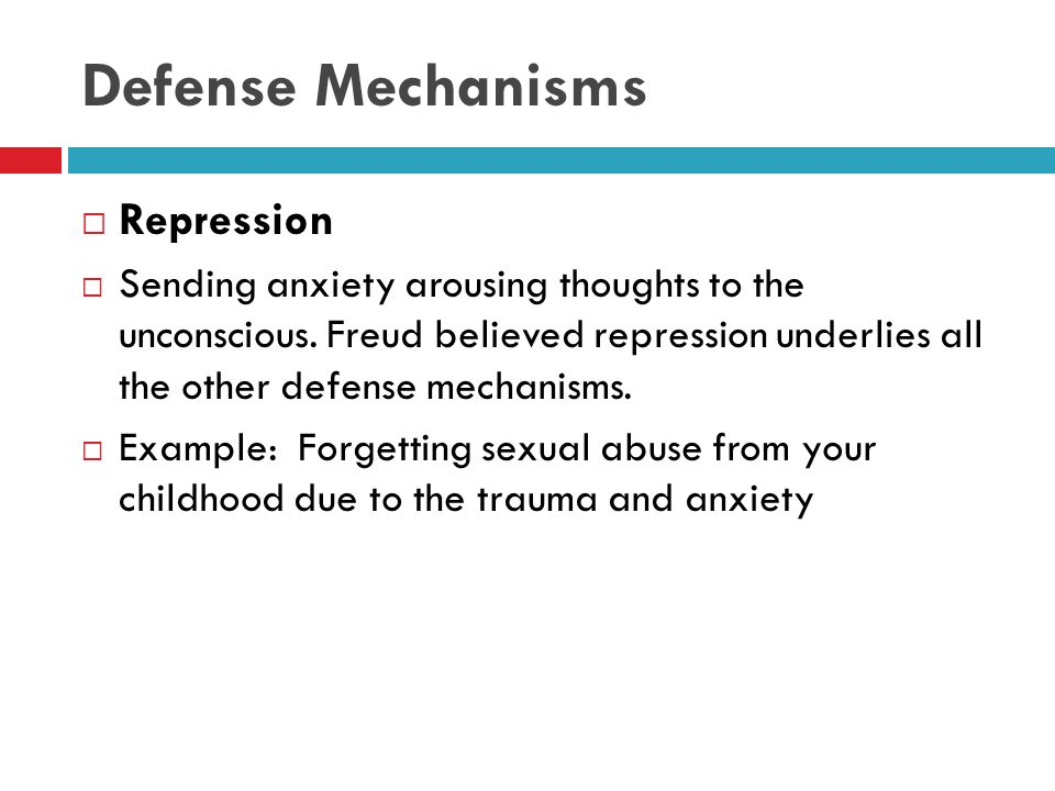 explain how defense mechanisms relate to anxiety Stress and coping theories for example, anxiety, threat, conflict mechanisms that may explain the cognitive transformation of `objective' noxious events into.