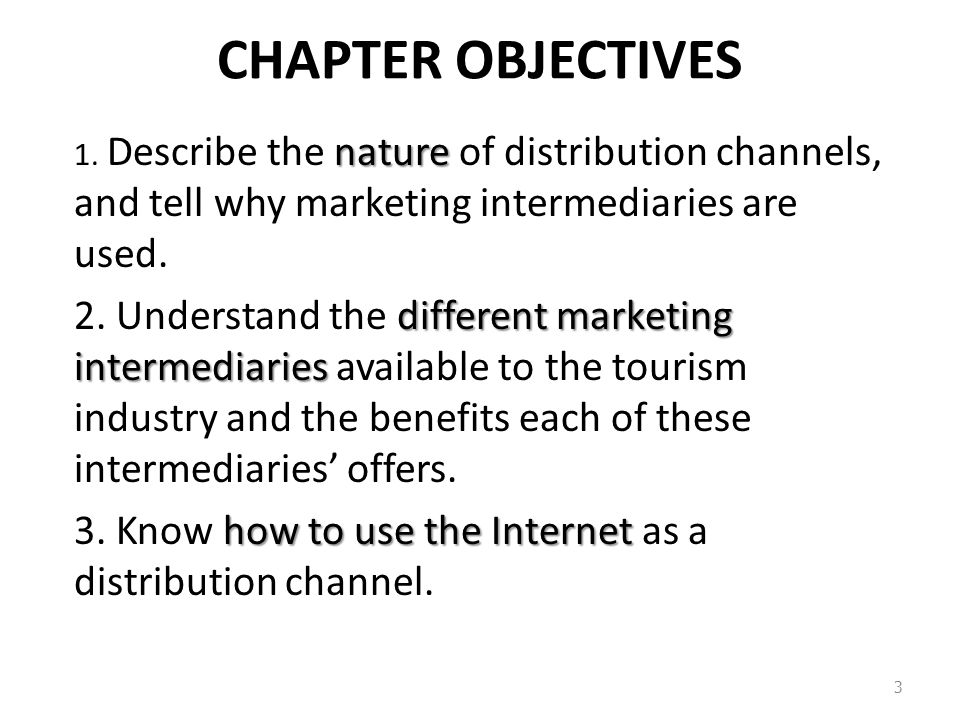 Distribution channel intermediaries