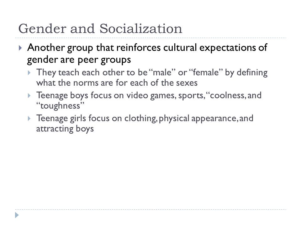 The link between socialization gender and sport