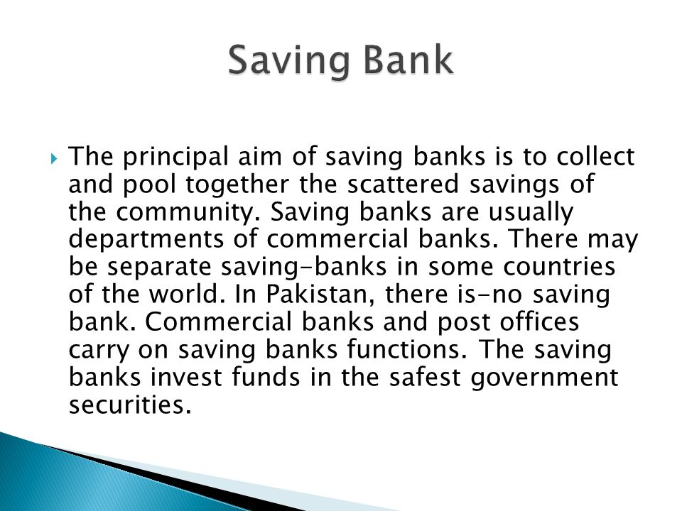 Saving Bank