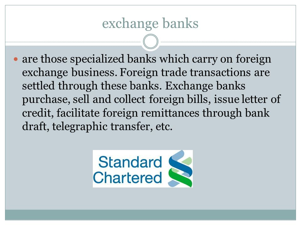 exchange banks