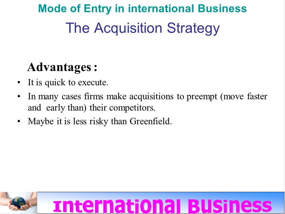 The Practices Of International Market Entrance For Chinese