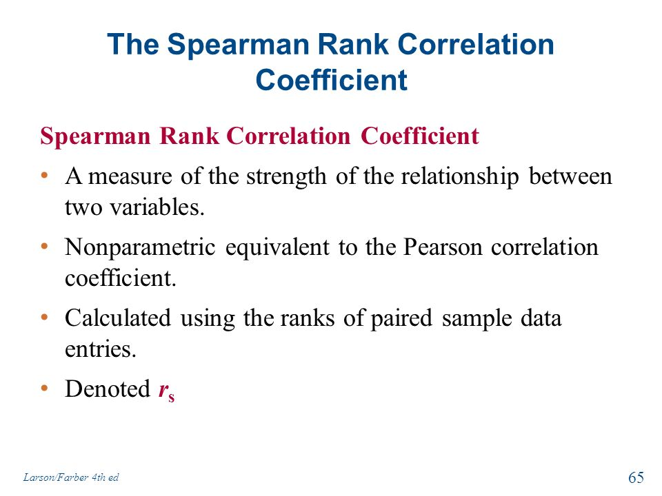relationship between pearson and spearman