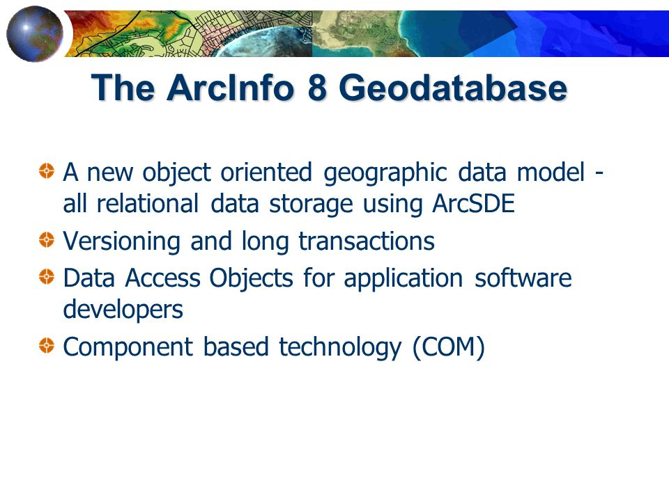 University of california san diego ucsd ppt video online 5 the arcinfo 8 geodatabase malvernweather Gallery