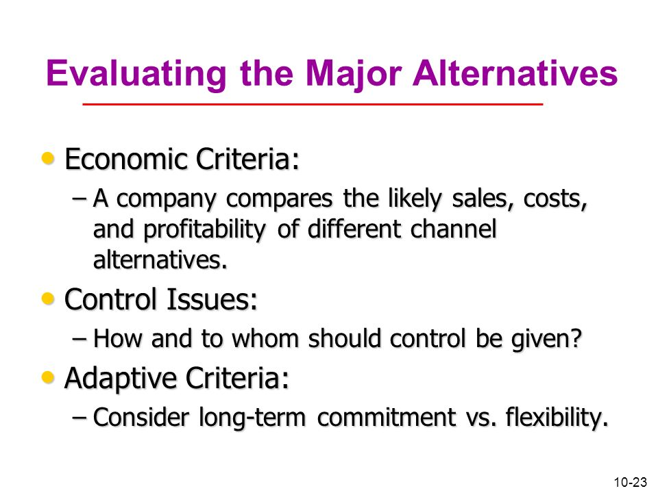 criteria for evaluating channel members Player manufacturer when evaluating potential channel members, criteria for choice channel marketing channels the marketing channel(s.