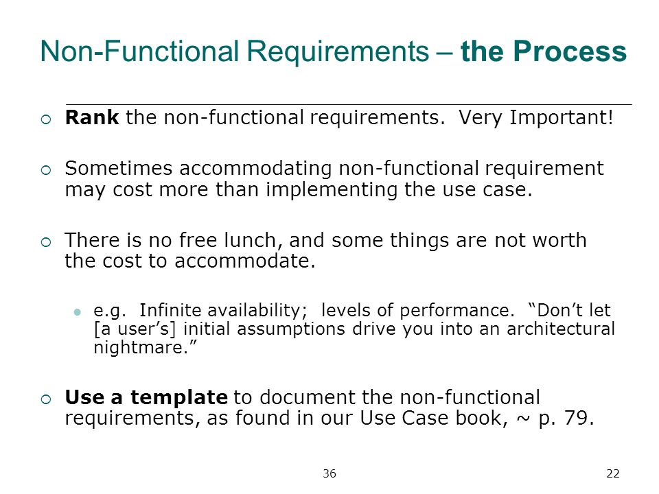 Non functional requirements ppt video online download for Non functional requirements template