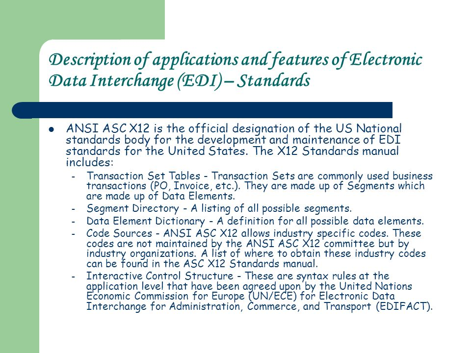 Electronic Data Interchange Codes Related Keywords