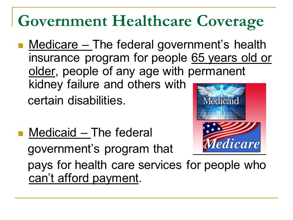 Government Healthcare Coverage