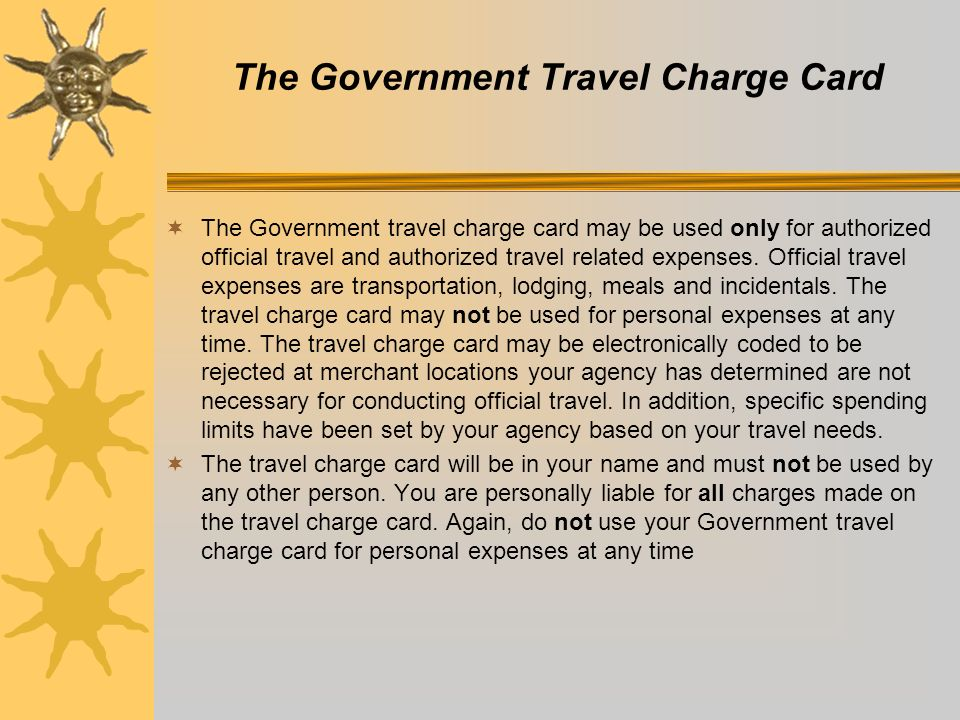 The Government Travel Card - ppt video online download