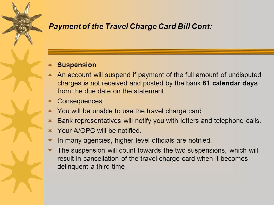 Government Travel Charge Card Online Payment