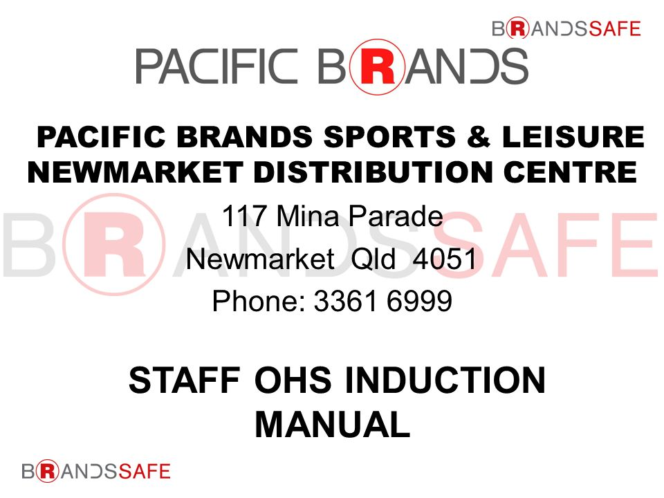 PACIFIC BRANDS, SPORTS & LEISURE Newmarket Distribution ...