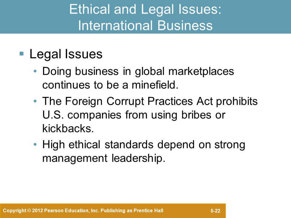 business international legal and ethical issues essay One of the issues involved in resolving legal disputes in international transactions is confirmation of the enforceability of the resulting decision.