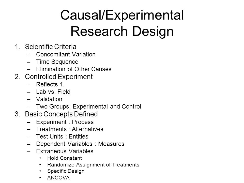 basic experimental design concepts The basics of experimental design [a quick and non-technical guide] phad530 - sytsma  theories, accepted concepts, hypotheses, principles and empirical evidence from related studies contribute to the extent that this knowledge is already available, the task of.