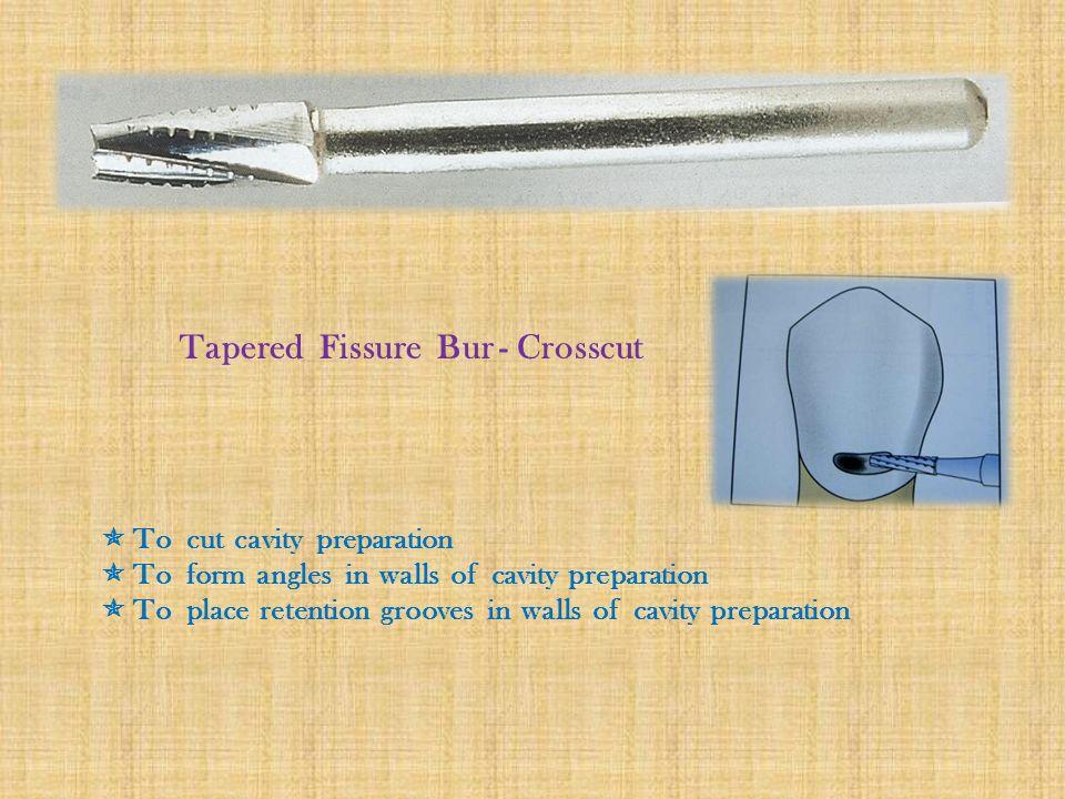 Tapered Fissure Bur - Crosscut