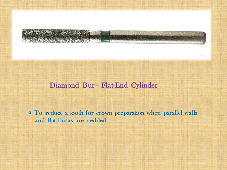 Diamond Bur – Flat-End Cylinder