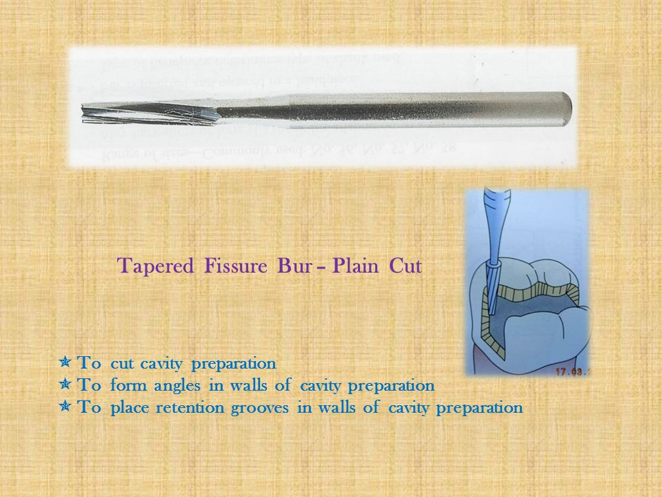 Tapered Fissure Bur – Plain Cut