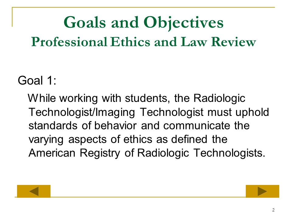 Core Objective 12: Ethics