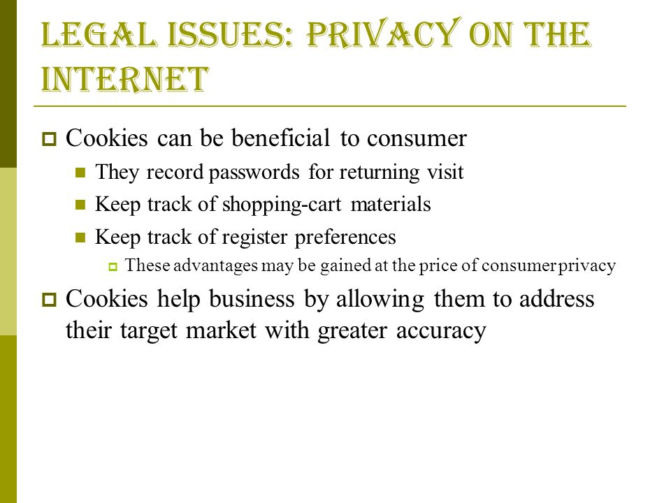 an analysis of the issue of consumer privacy on the internet These issues include privacy, confidentiality, trade secrets, and both civil and criminal breaches of state and federal law we will first address the issues that arise in the context of the cooperative obtaining of information.