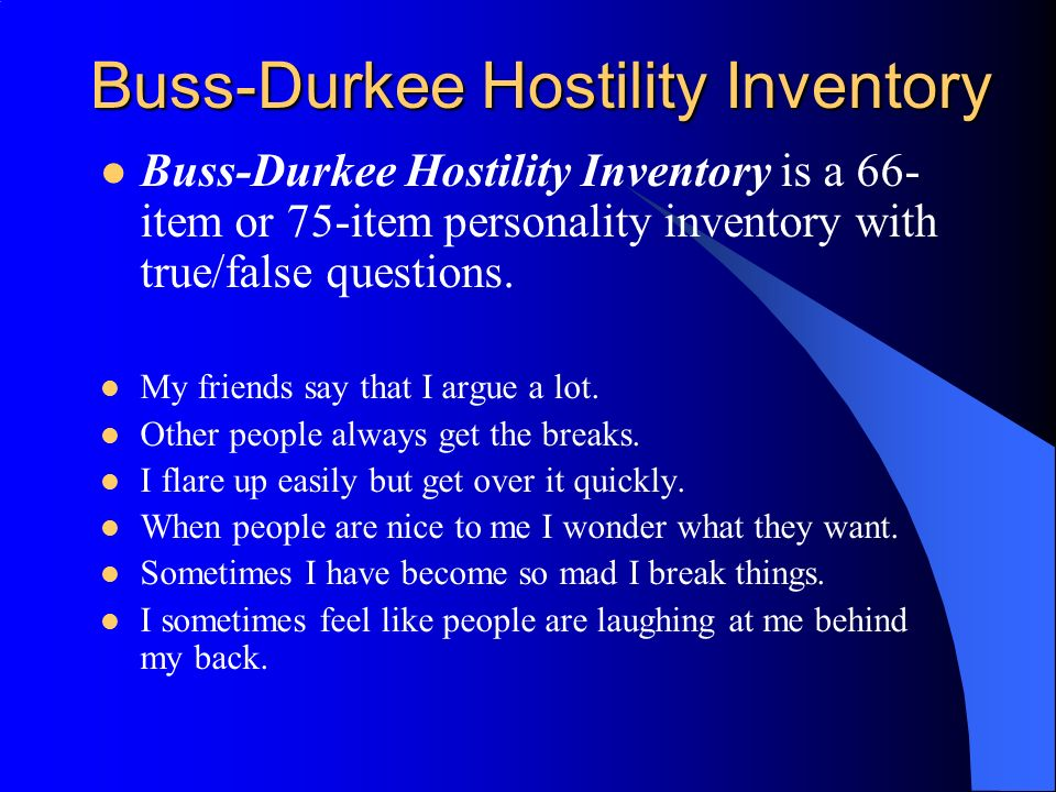 buss durkee hostility inventory pdf