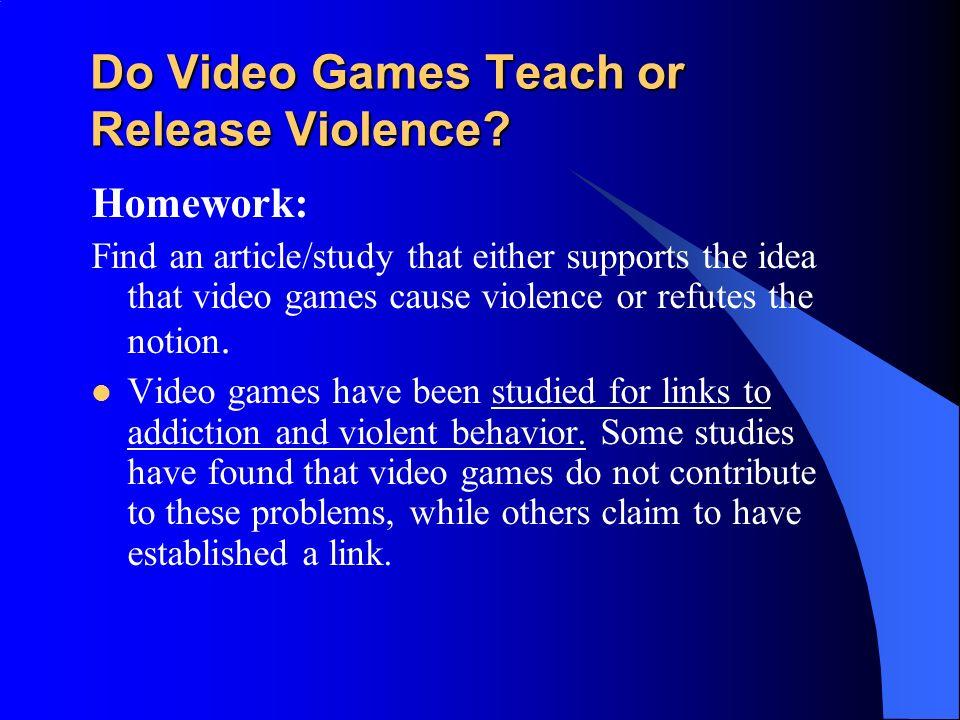 Violent Video Games Cause Behavior Problems Aggression. - p...
