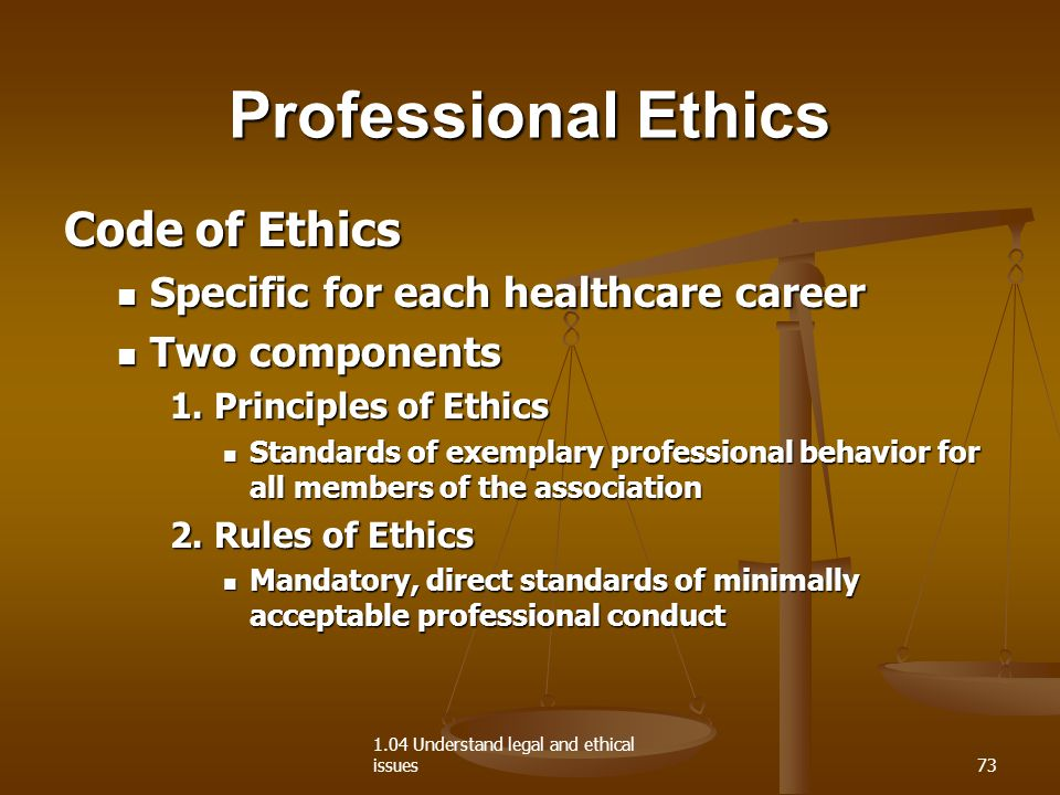 professional ethics and legal issues in The nursing profession is underpinned by many professional, legal and ethical issues that are vital for safe practice and ensure the best interest of patients are being met.