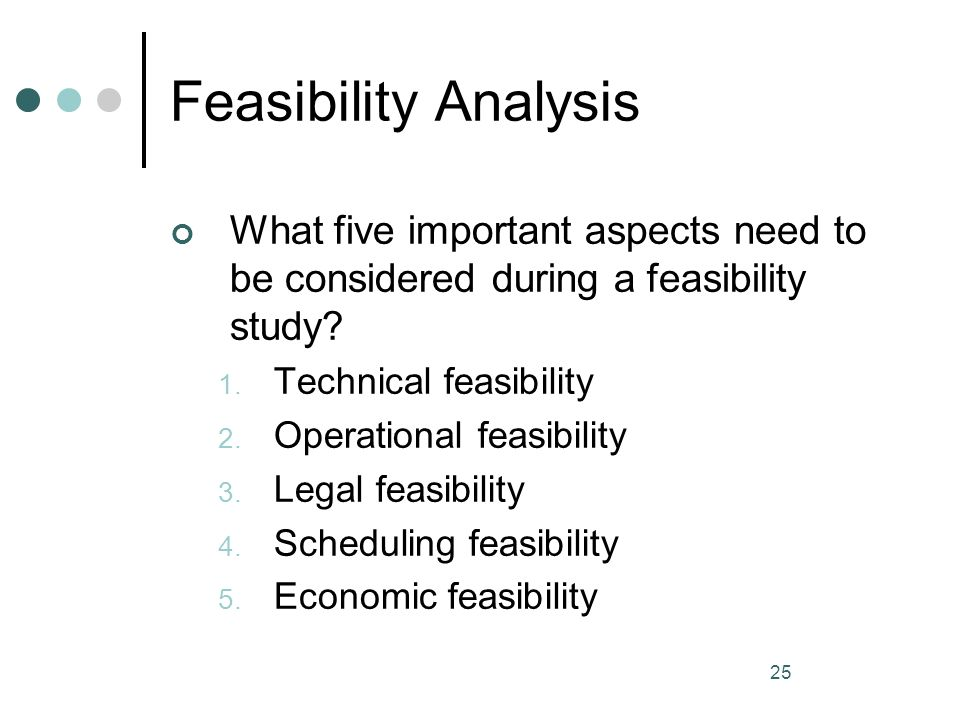 technical aspect of feasibility