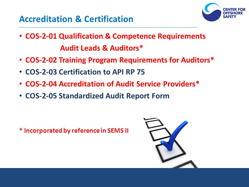 Welcome to the Standards and Accreditation Department
