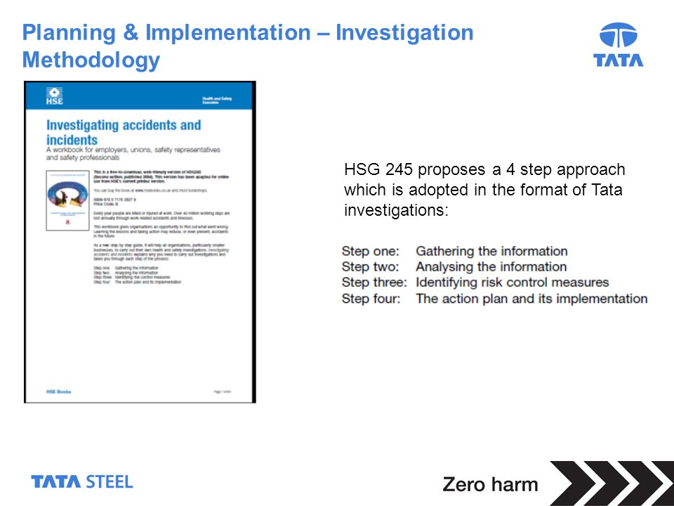 Planning & Implementation – Investigation Methodology
