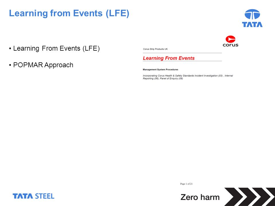 Learning from Events (LFE)