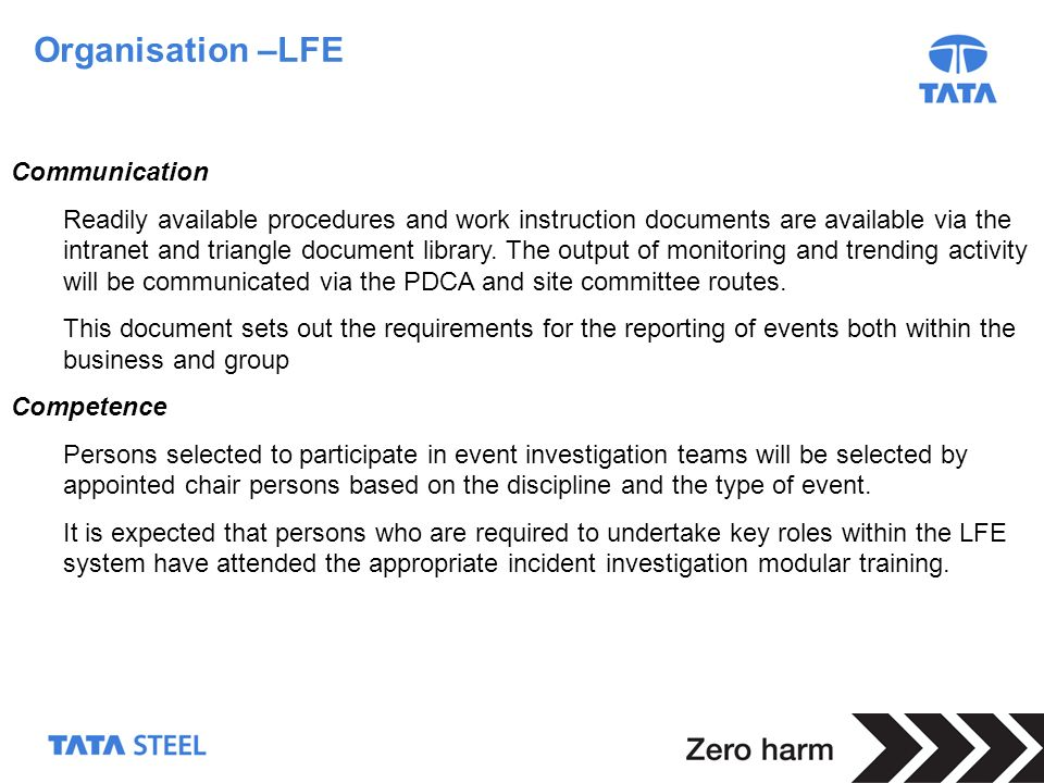 Organisation –LFE Communication