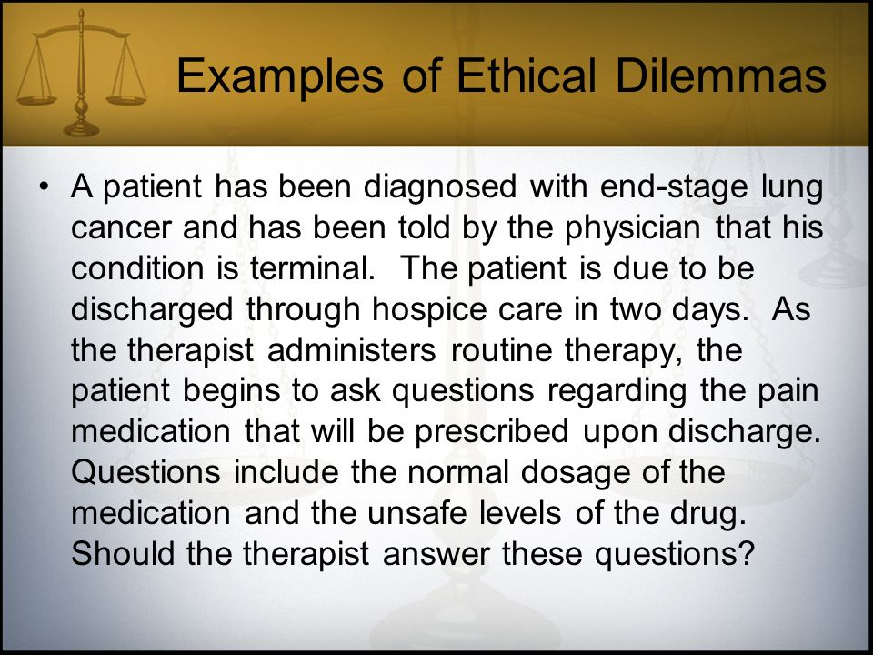Ethical Dilemma Examples In Nursing – HD Wallpapers