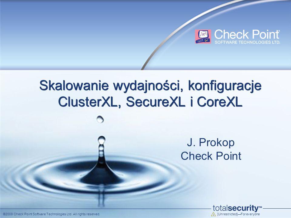 Skalowanie wydajności, konfiguracje ClusterXL, SecureXL i CoreXL