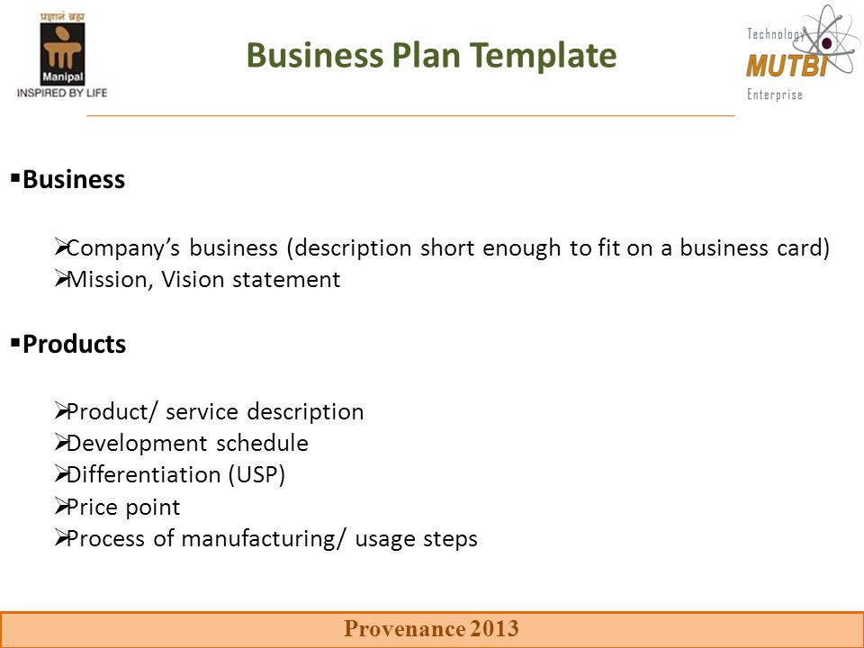 Key Components Of The Business Plan Ppt Video Online Download - Business plan template manufacturing