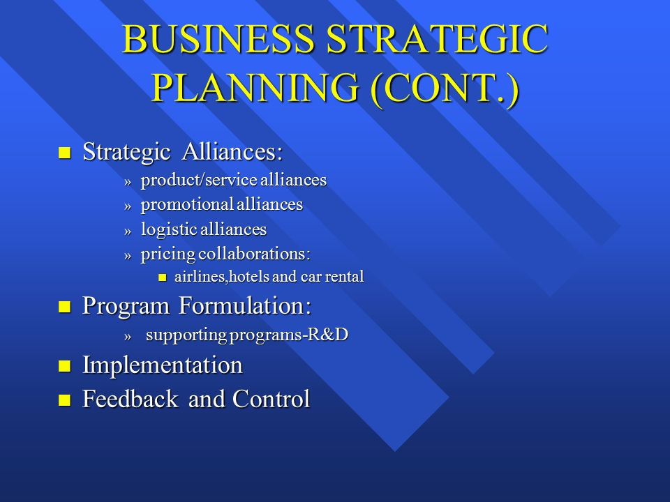 Strategic & Business Planning