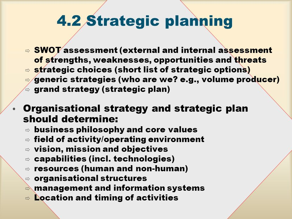 strategic management external assessment For a strategy to succeed, it should be based on a realistic assessment of the marketing, and human resource development for efficient strategic management.