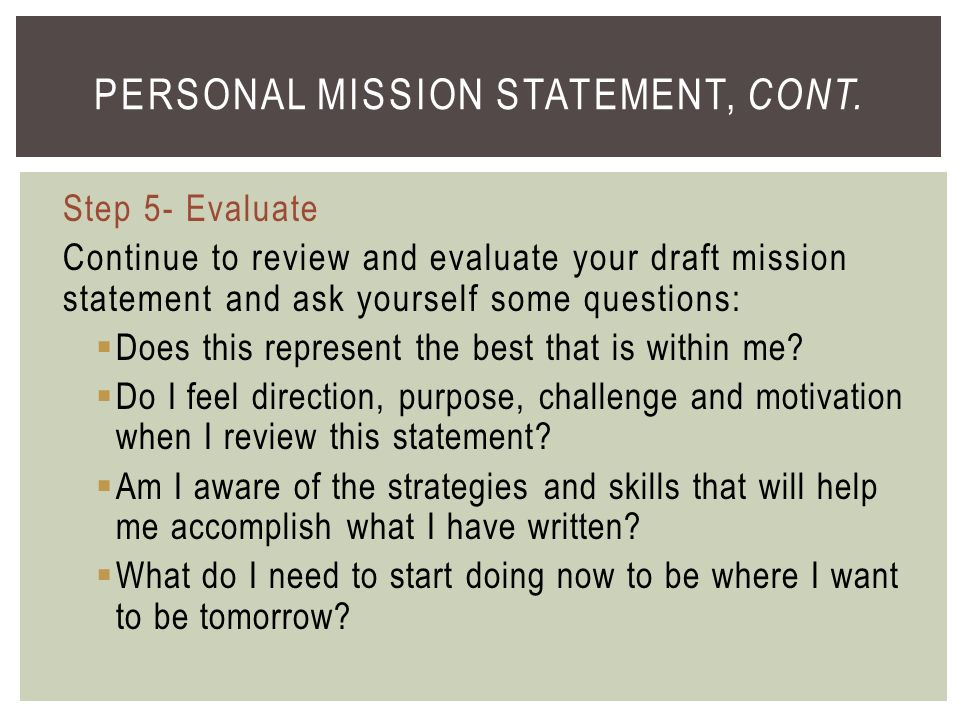 stephen covey 7 habits personal mission statement