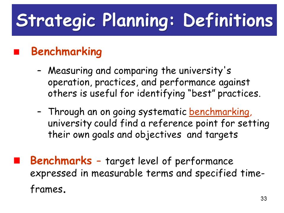benchmarking and goal setting An introduction to benchmarking and performance reviews in today's team and collaborative environment,  setting goals when setting goals, it is important to .