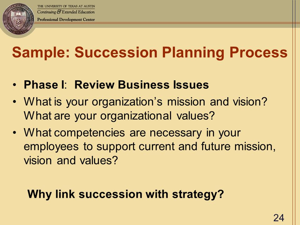 succession plans examples