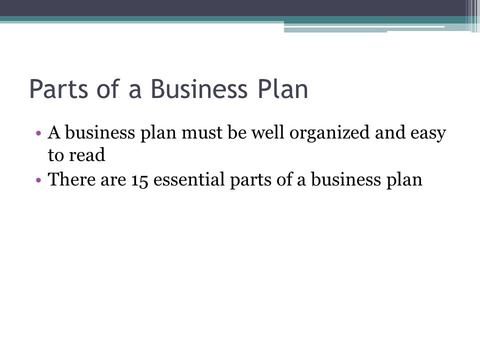 What Are the 4 Important Parts of a Business Plan?