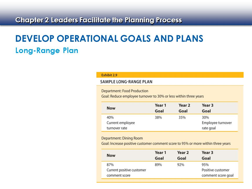 develop and inplement operational plans Listed below are the main generic 'skills' that need to be applied in developing and implementing operational plans for your area of responsibility.