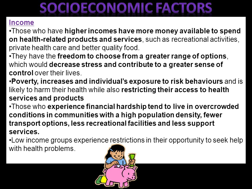 Demographic and socioeconomic factors associated with