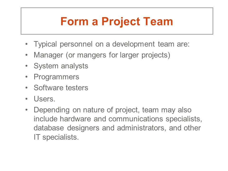 project team development When project managers understand the five stages of team development and how the team moves through the stages, they are better able to manage the team to ensure a.