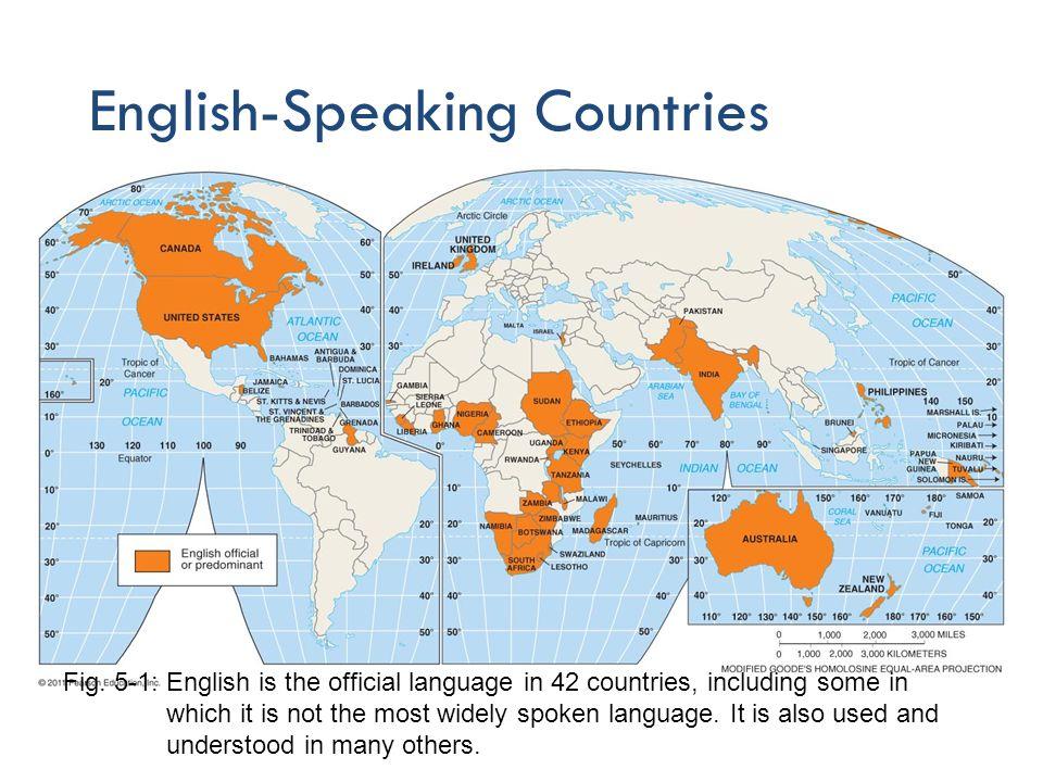 English language map