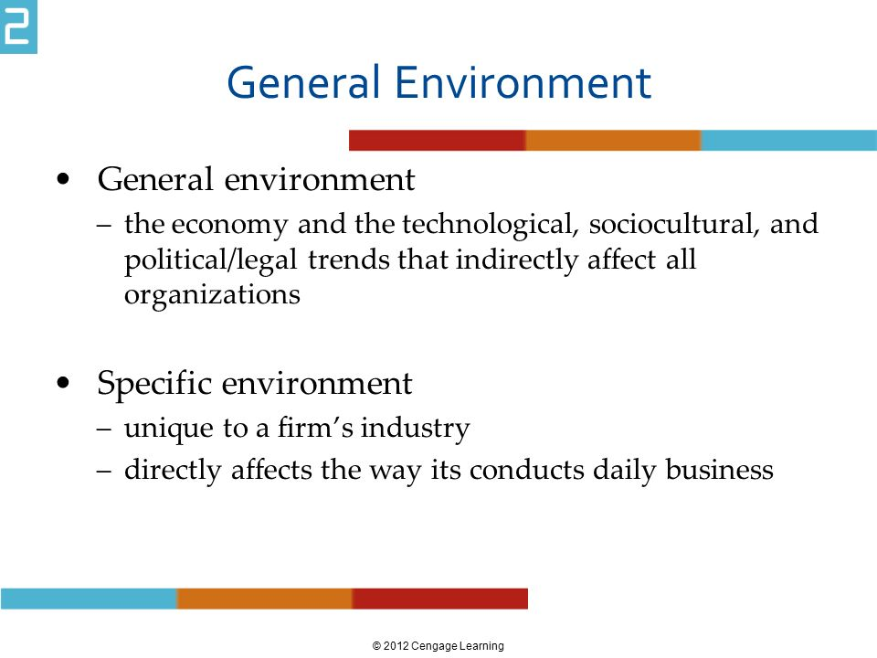 how general environment affects organizations Strategic management is the formulation of strategy involves analyzing the environment in which the organization these forces affect the organization's.