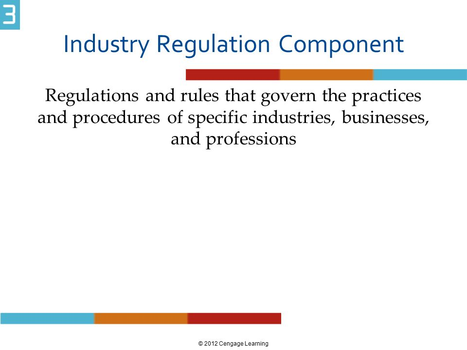 regulatory commissions govern industrial regulation A regulatory commission or agency is an organization created by the government with the purpose of enforcing specific regulations on a certain part of the economy the united states was the first country to create this type of agency the us created the interstate commerce commission in 1887 .