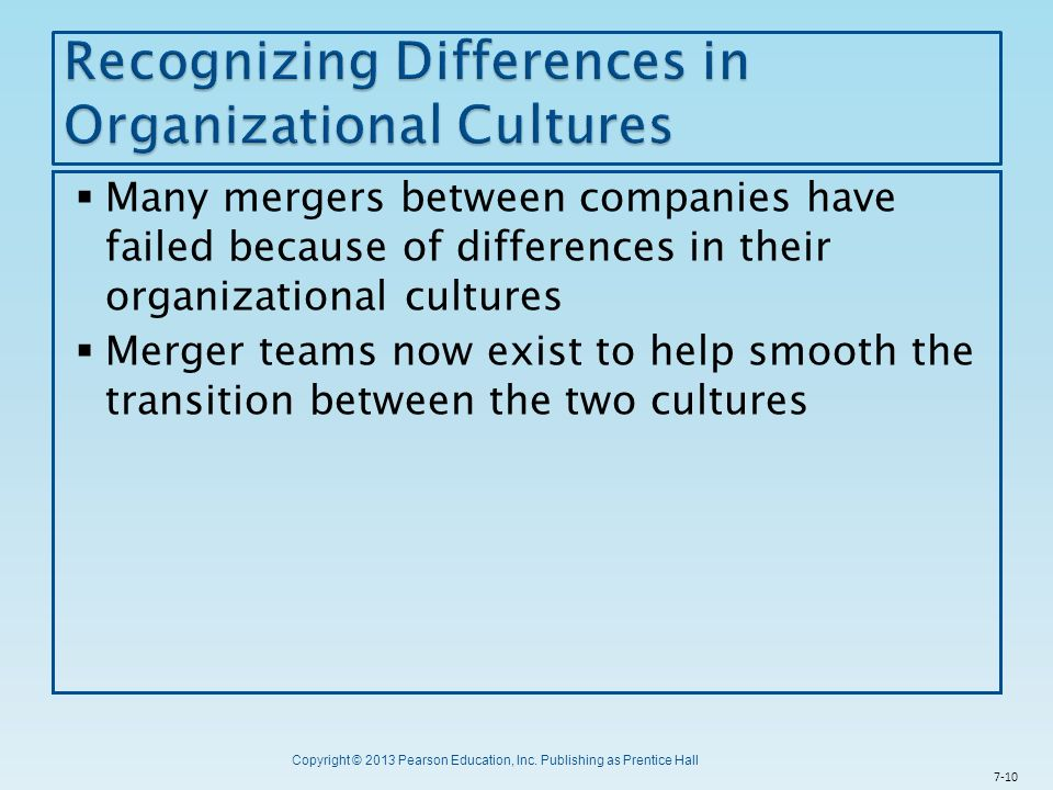 Recognizing Differences in Organizational Cultures