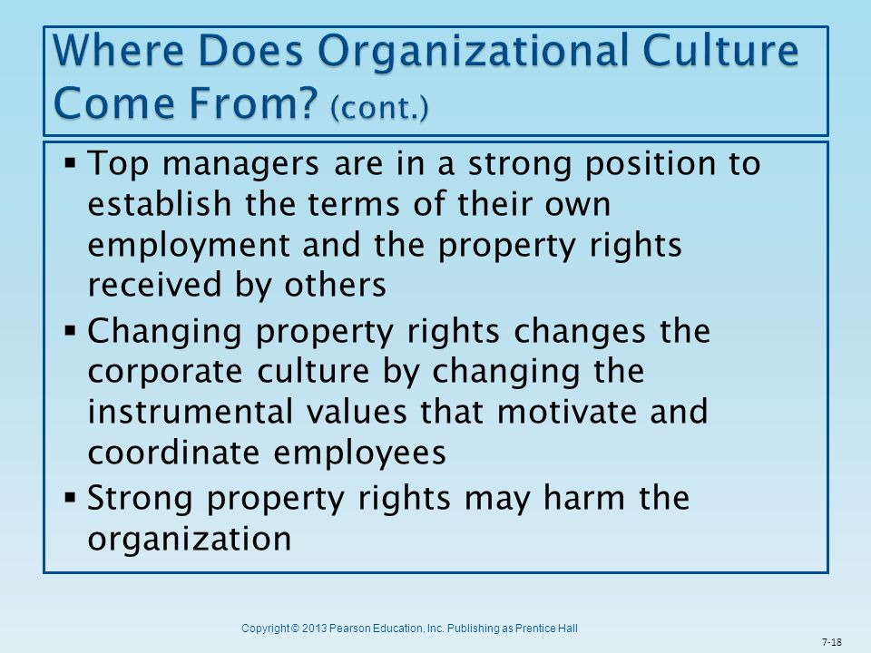 Where Does Organizational Culture Come From (cont.)