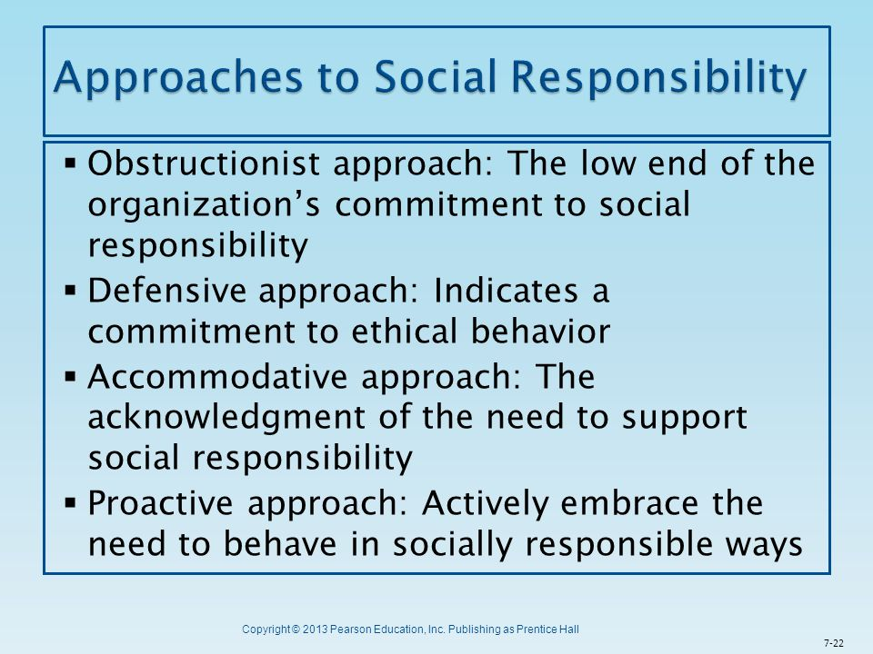 Approaches to Social Responsibility
