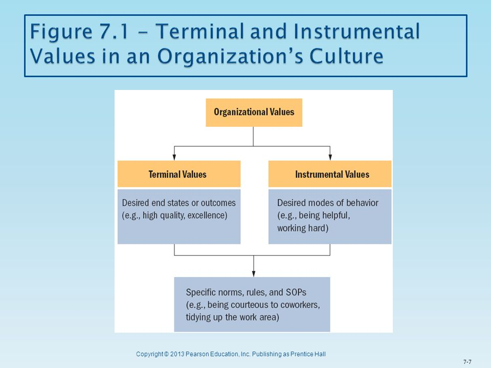 Figure 7.1 - Terminal and Instrumental Values in an Organization's Culture